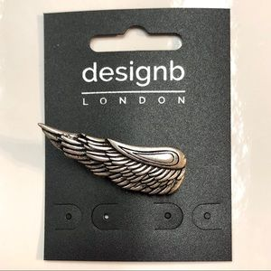 NWT ASOS Designb Wing Lapel Pin